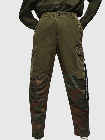 Diesel - P-THENA-A, Verde Camuflaje - Pantalones - Image 1
