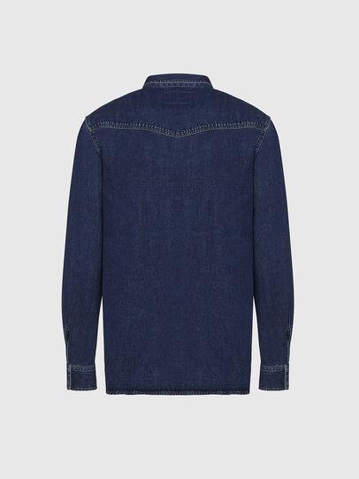 Diesel - D-EAST-P, Azul Oscuro - Camisas de Denim - Image 2
