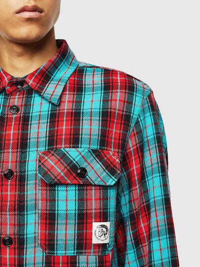 Diesel - S-GERRY-CHECK, Rojo - Camisas - Image 3