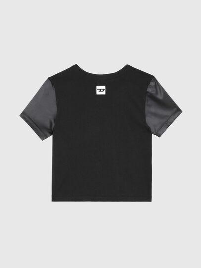 Diesel - UFTEE-ROUNDIE-SAT, Negro - Camisetas - Image 2