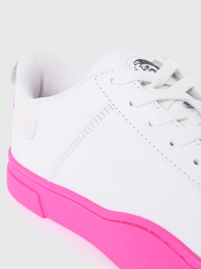 Diesel - S-CLEVER LOW LACE W, Blanco/Rosa - Sneakers - Image 4