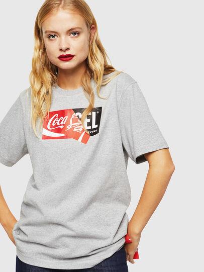 Diesel - CC-T-JUST-COLA, Gris - Camisetas - Image 2