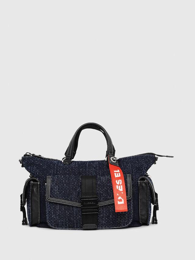 Diesel - MISS-MATCH SATCHEL M, Blue Jeans - Maletines y Bolsos De Mano - Image 1