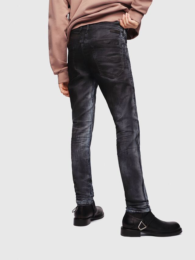 Diesel - Thommer JoggJeans 086AZ, Negro/Gris oscuro - Vaqueros - Image 2
