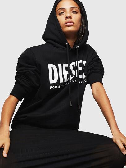 Diesel - F-GIR-HOOD-DIV-LOGO-, Negro - Sudaderas - Image 4