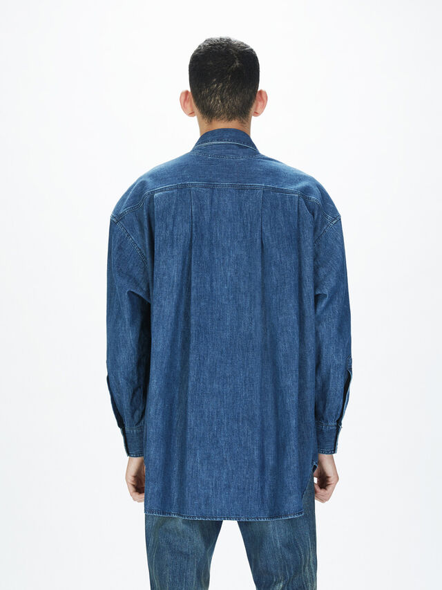Diesel - SOTS01, Azul Oscuro - Camisas - Image 5