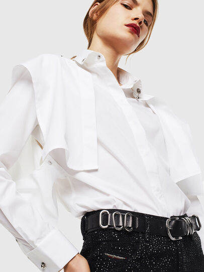 Diesel - C-RAILY-SHAPED, Blanco - Camisas - Image 3
