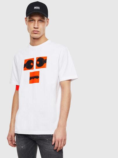 Diesel - T-JUST-T23, Blanco - Camisetas - Image 1