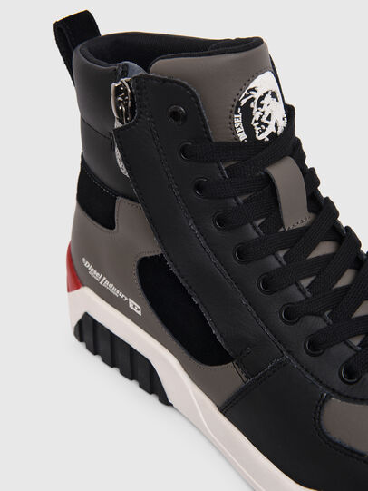 Diesel - S-RUA MID SK, Gris - Sneakers - Image 4