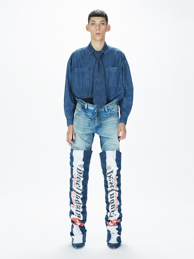 Diesel - SOTS01, Azul Oscuro - Camisas - Image 7