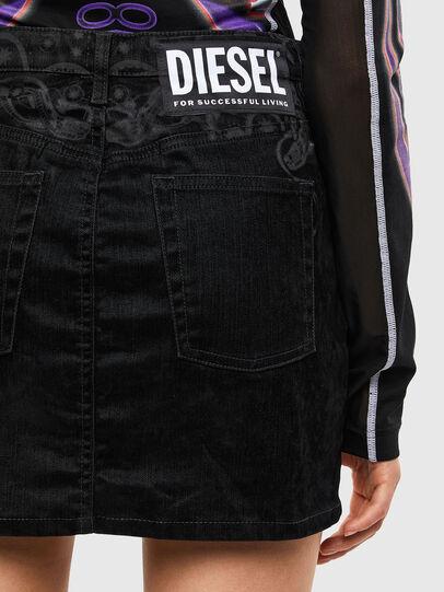 Diesel - DE-FREESIA-SP, Negro - Faldas - Image 5