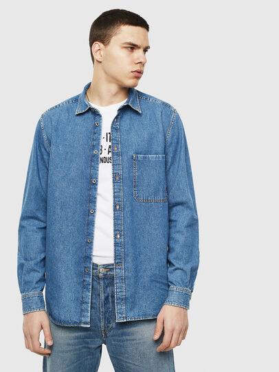 Diesel - D-BER-P, Blue Jeans - Camisas de Denim - Image 6