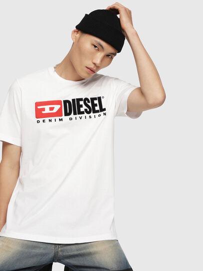 Diesel - T-JUST-DIVISION, Blanco - Camisetas - Image 1