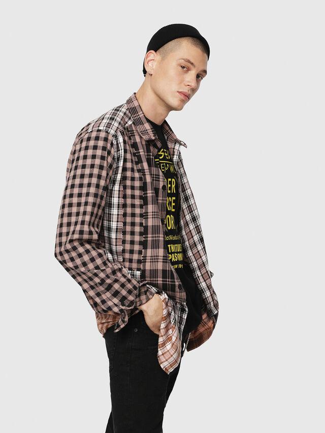Diesel - S-MADOKA, Negro/Rosa - Camisas - Image 4