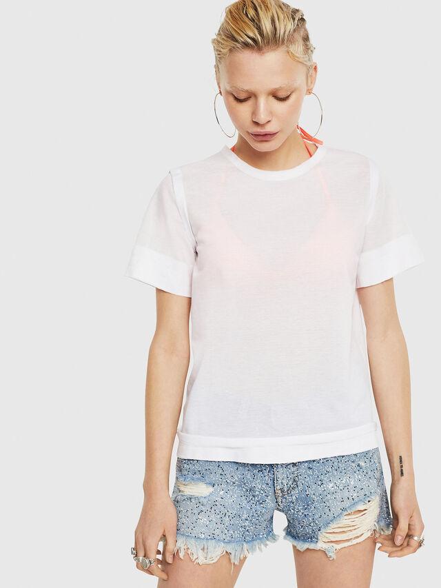 Diesel - T-ROCK-A, Blanco - Camisetas - Image 1