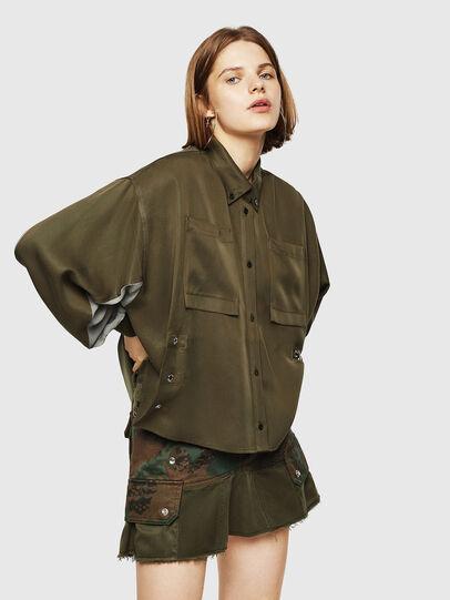 Diesel - C-LEXYS, Verde Militar - Camisas - Image 1