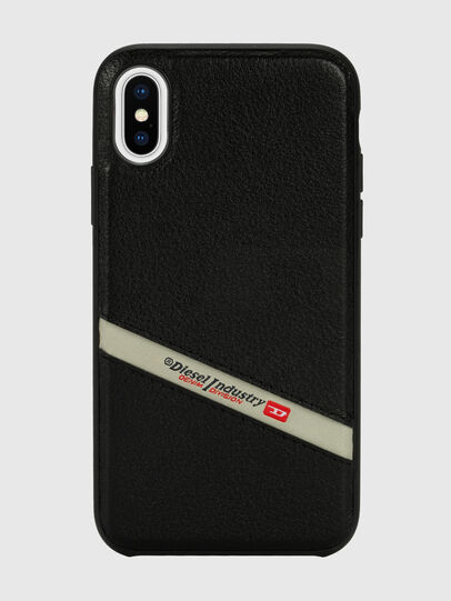 Diesel - DIESEL LEATHER CO-MOLD CASE FOR IPHONE XS & IPHONE X, Negro - Fundas - Image 2