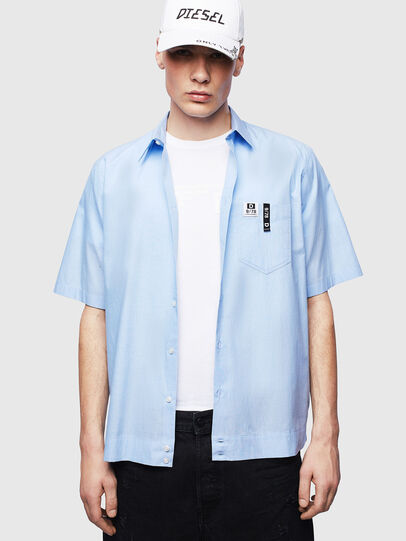 Diesel - S-FRY-FLUO, Azul Claro - Camisas - Image 4