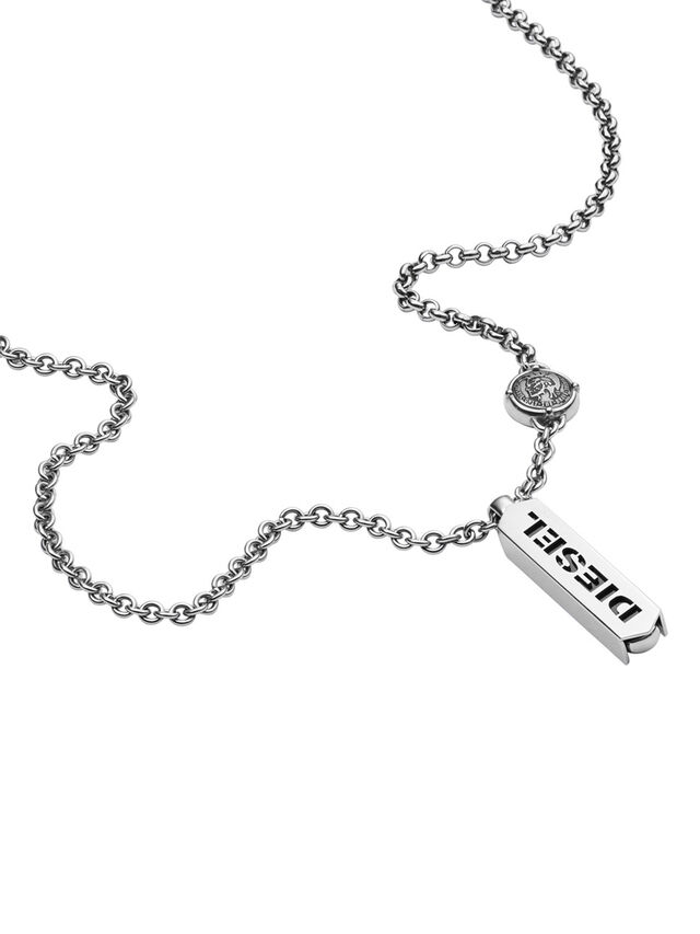Diesel - NECKLACE DX0997, Plata - Collares - Image 2