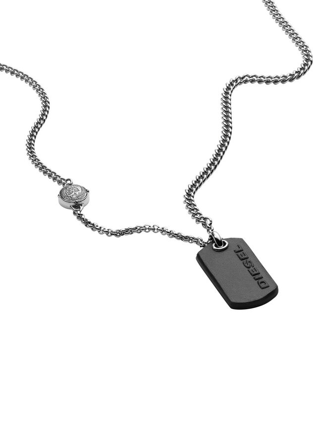 Diesel - NECKLACE DX1012, Plata - Collares - Image 2