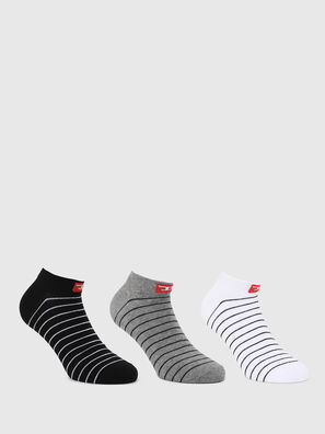 SKM-GOST-THREEPACK, Negro/Blanco - Calcetines