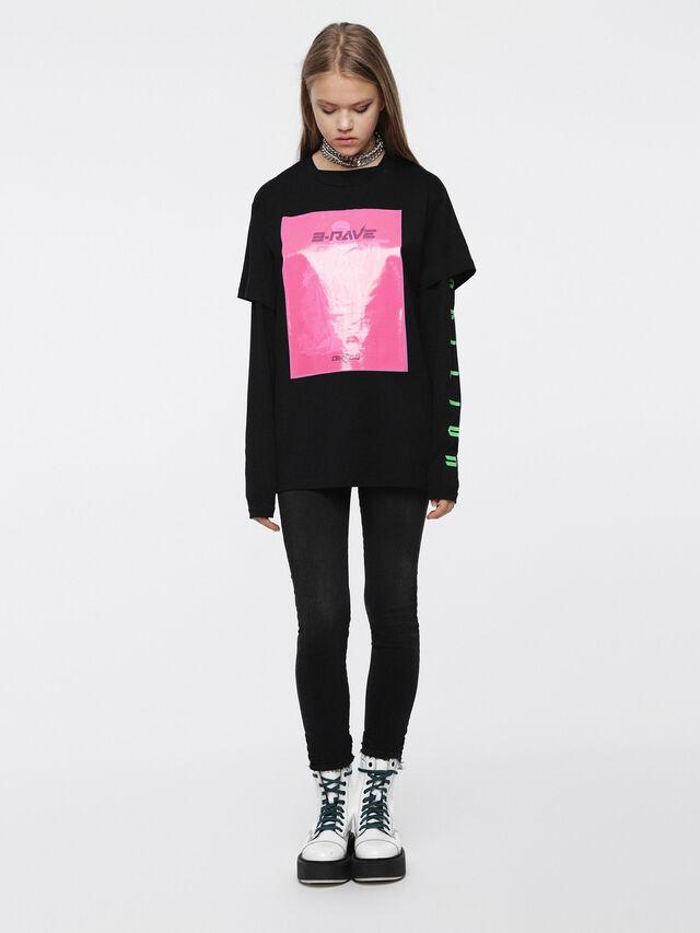 Diesel - T-DARIA-C, Negro/Rosa - Camisetas - Image 4