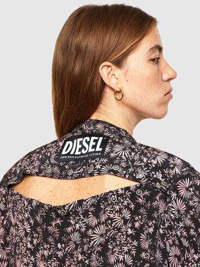 Diesel - D-SUPER-H-LONG, Negro/Morado - Vestidos - Image 3