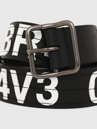 Diesel - B-R4V3, Negro/Blanco - Cinturones - Image 2