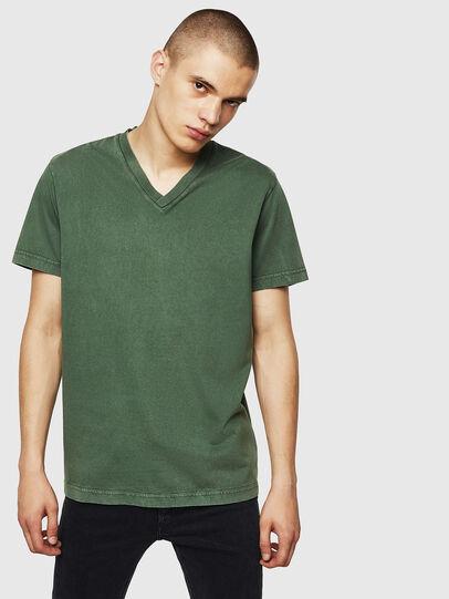 Diesel - T-THEA, Verde Oscuro - Camisetas - Image 1