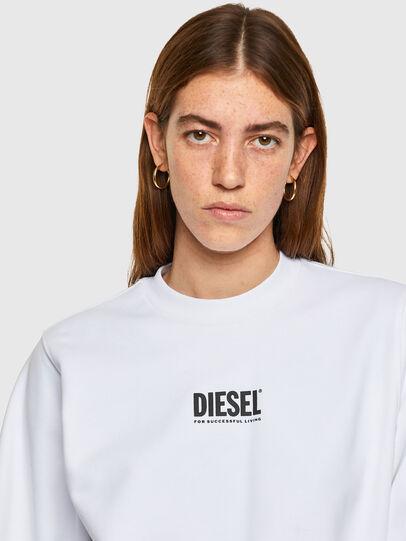 Diesel - F-ANG-SMALLOGO, Blanco - Sudaderas - Image 3