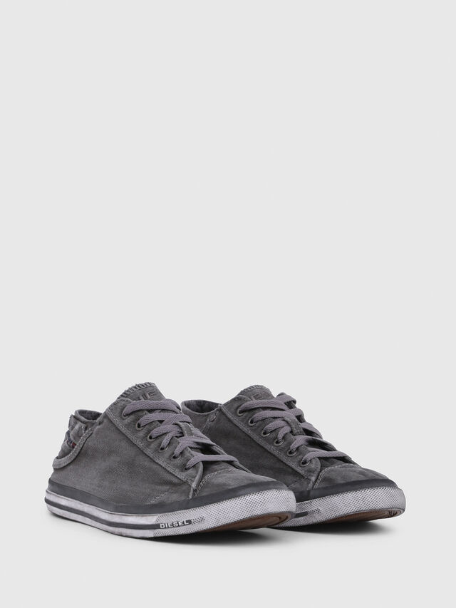 Diesel - EXPOSURE LOW I, Gris Metal - Sneakers - Image 2