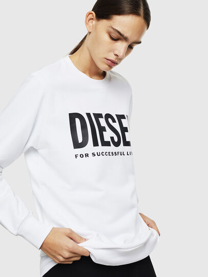 Diesel - S-GIR-DIVISION-LOGO, Blanco - Sudaderas - Image 2
