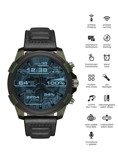 Diesel - DT2003, Verde Militar - Smartwatches - Image 1