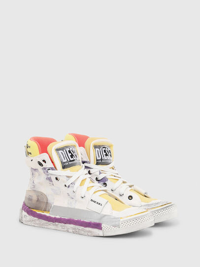 Diesel - S-ASTICO PNT W, Blanco/Rosa - Sneakers - Image 2