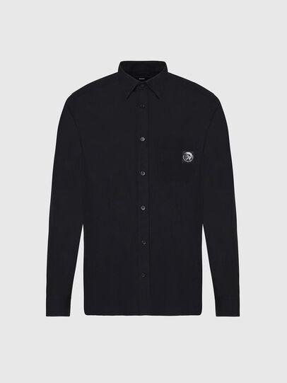 Diesel - S-BILL-POCKET, Negro - Camisas - Image 1