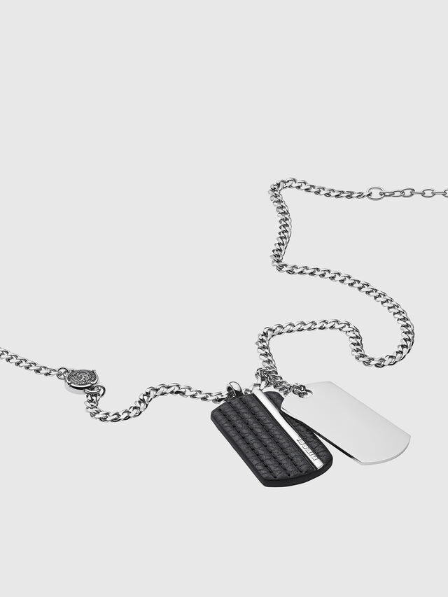 Diesel - NECKLACE DX1040, Plata - Collares - Image 2
