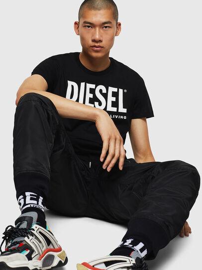 Diesel - T-DIEGO-LOGO, Negro - Camisetas - Image 5