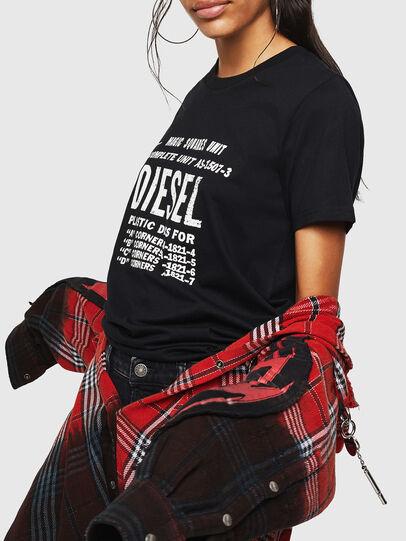 Diesel - T-SILY-ZF, Negro - Camisetas - Image 5