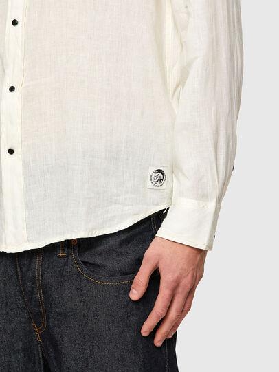 Diesel - S-EAST-LONG-LIN, Blanco - Camisas - Image 4