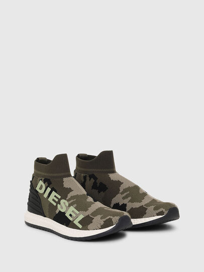 Diesel - SLIP ON 03 LOW SOCK, Verde Camuflaje - Calzado - Image 2