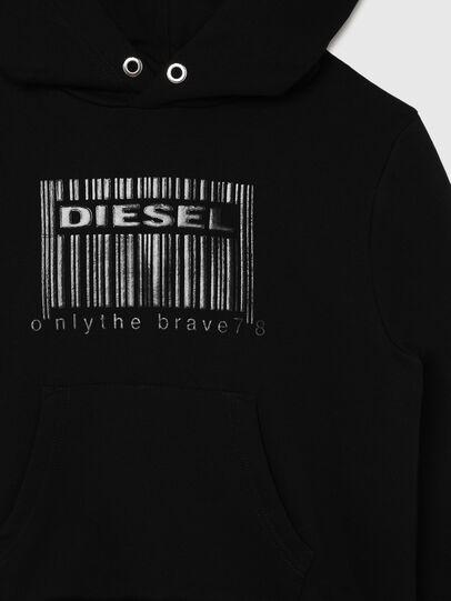 Diesel - SGIRKHOODCODE OVER, Negro - Sudaderas - Image 3