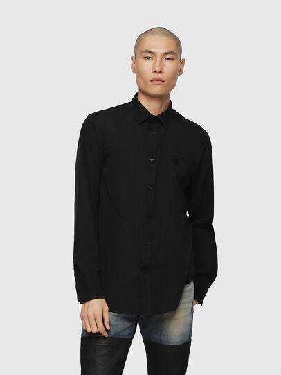 Diesel - S-BILL, Negro - Camisas - Image 1