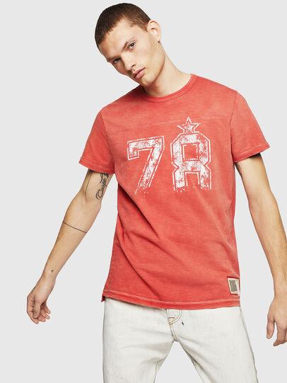 Diesel - T-DIEGO-CUT-AB, Rojo Fuego - Camisetas - Image 1