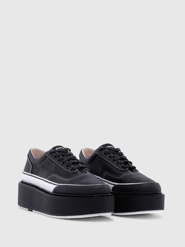 Diesel - H-SCIROCCO LOW, Negro/Blanco - Sneakers - Image 2