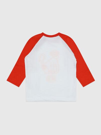 Diesel - TBALYB, Blanco/Naranja - Camisetas y Tops - Image 2