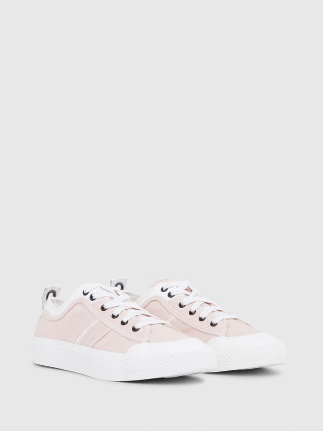 Diesel - S-ASTICO LOW LACE W, Rosa/Blanco - Sneakers - Image 2