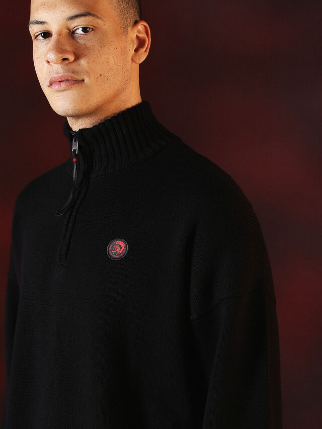 Diesel - DVL-KNIT-SPECIAL COLLECTION, Negro - Punto - Image 5