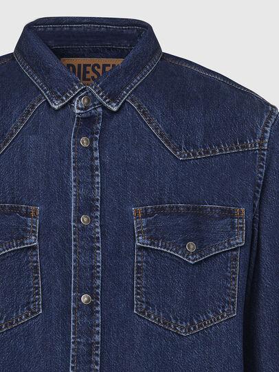 Diesel - D-EAST-P, Azul Oscuro - Camisas de Denim - Image 3