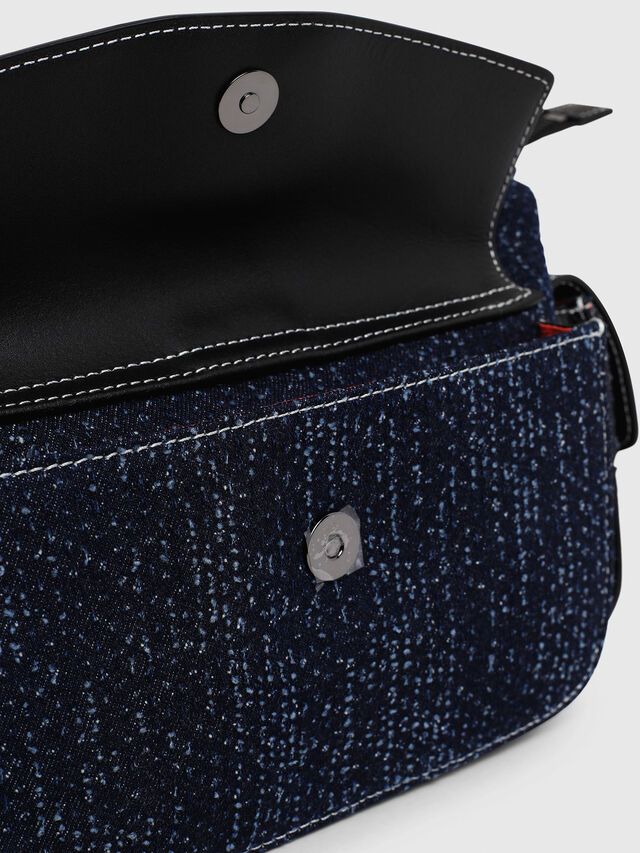 Diesel - MISS-MATCH SATCHEL M, Blue Jeans - Maletines y Bolsos De Mano - Image 5