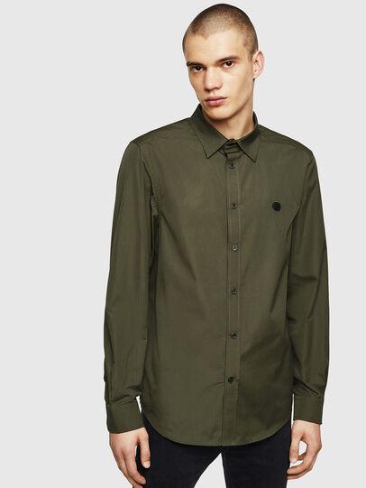 Diesel - S-BILL, Verde Oscuro - Camisas - Image 1